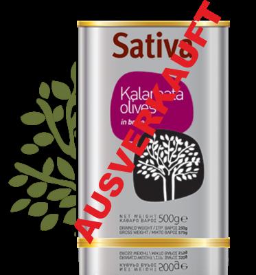 Auserwählte Premium Kalamata Oliven von SATIVA 500g
