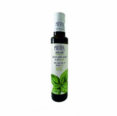 """MiTerra - Kretas Extra natives Premium Basilikum-Olivenöl aus der """"Koroneiki"""" Sorte 250ml"""