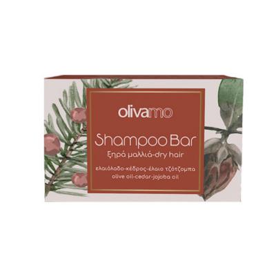 OLIVA Festes Shampoo für trockenes Haar mit Olivenöl, Jojobaöl und Zedernextrakt 125g von ABEA Kreta